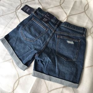 GAP Shorts - Gap Mid Rise Distressed Denim Shorts